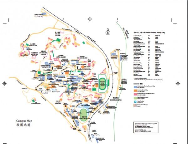 중문대학교캠퍼스지도(출처:중문대홈페이지)