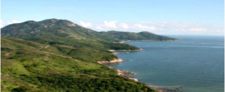 푸른바다와대조적인화려한녹색의언덕