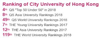 시티대 2017-2018 랭킹 (시티대 홈페이지)