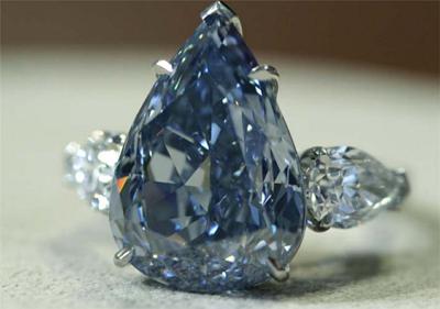 윈스톤 블루 다이아몬드 반지