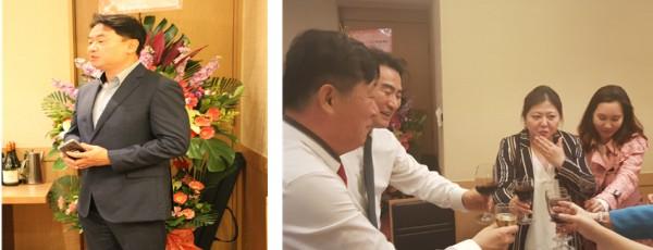 ▲김진회 마케터담당 대표       ▲이지현 사무국장(사진왼쪽에서 두 번째)