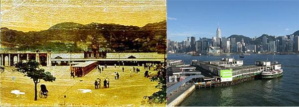 △Star Ferry Tsim Sha Tsui 선착장의 과거(개장-1920년대까지)와 현재