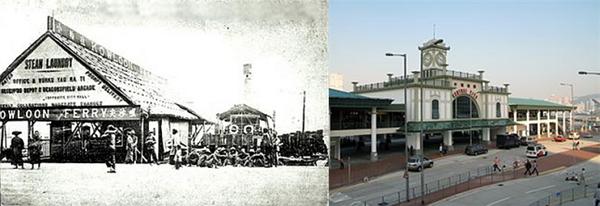 △Central 선착장의 과거(개장-1912)와 현재(2006년부터)