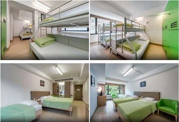 미하루 호스텔 내부 모습, 기숙사동과 일인실, 패밀리룸 등 다양한 방을 선택할 수 있다.