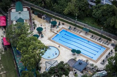 ▲ 오늘날에는 The Kowloon Cricket Club 과 수영장이 자리 잡고 있다.
