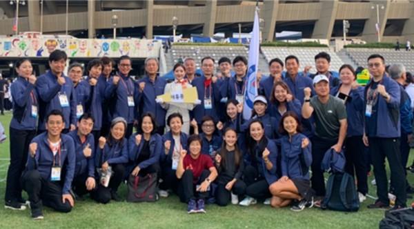 ▲ 재홍콩한인체육회 선수 65명이 100회 전국체육대회에 참석했다.