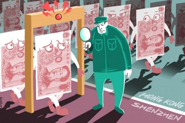 ▲ 자유 태환 불가능한 위안화는 심천이 금융허브로서 홍콩을 앞서지 못하는 이유 중의 하나이다. (사진=scmp)